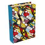 Book Box Heróis de História em Quadrinhos - The Simpsons - em Madeira - 24x16 cm