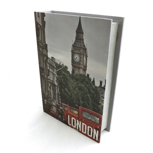 Book Box London Bigben - Caixa Livro / Porta objetos - Madeira - 22x31 cm