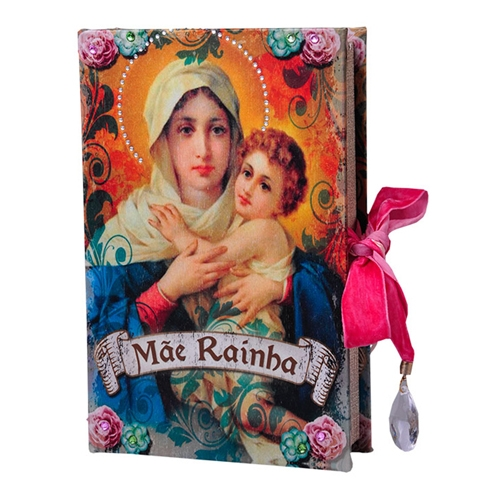 Book Box Mãe Rainha em Madeira - 24x15 cm