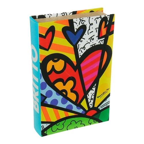 Book Box New Day - Romero Britto - em MDF - 33x22 cm