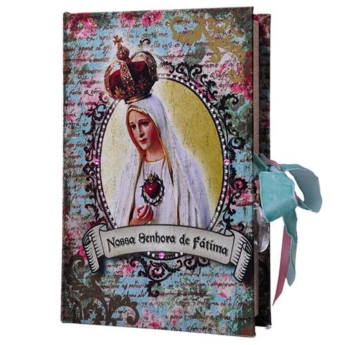 Book Box Nossa Senhora de Fátima em Madeira - 24x15 cm