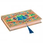 Book Box para Anéis Amor de Pixel Gato Colorido em Madeira Revestido em Tecido - 27x19 cm