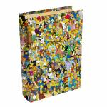 Book Box Personagens The Simpsons Multicolorido em Madeira