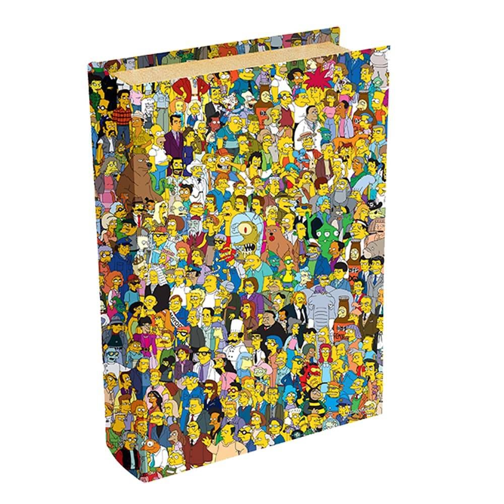 Book Box Personagens The Simpsons Multicolorido em Madeira - 24x16 cm