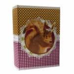 Book Box Pet Pop Esquilo Colorido em Tecido - 30x20 cm