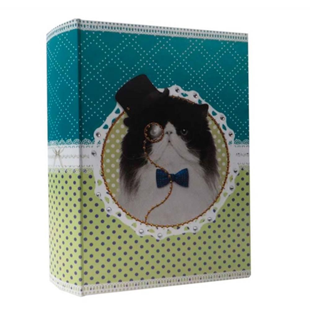 Book Box Pet Pop Gato com Fantasia Sherlock Holmes em Tecido - 30x20 cm