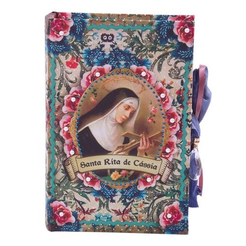 Book Box Santa Rita em Madeira - 24x15 cm