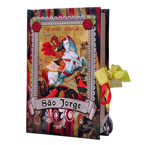 Book Box São Jorge em Madeira - 24x15 cm