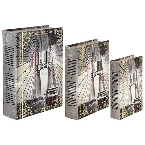 Book Box São Paulo Calhambeque Oldway - 36x25x10cm
