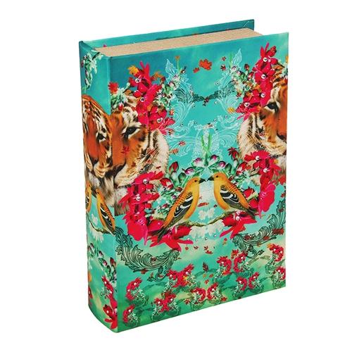 Book Box Tropical Pássaro em Madeira - 30x20 cm