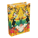 Book Box Tropical Tucano em Madeira - 30x20 cm