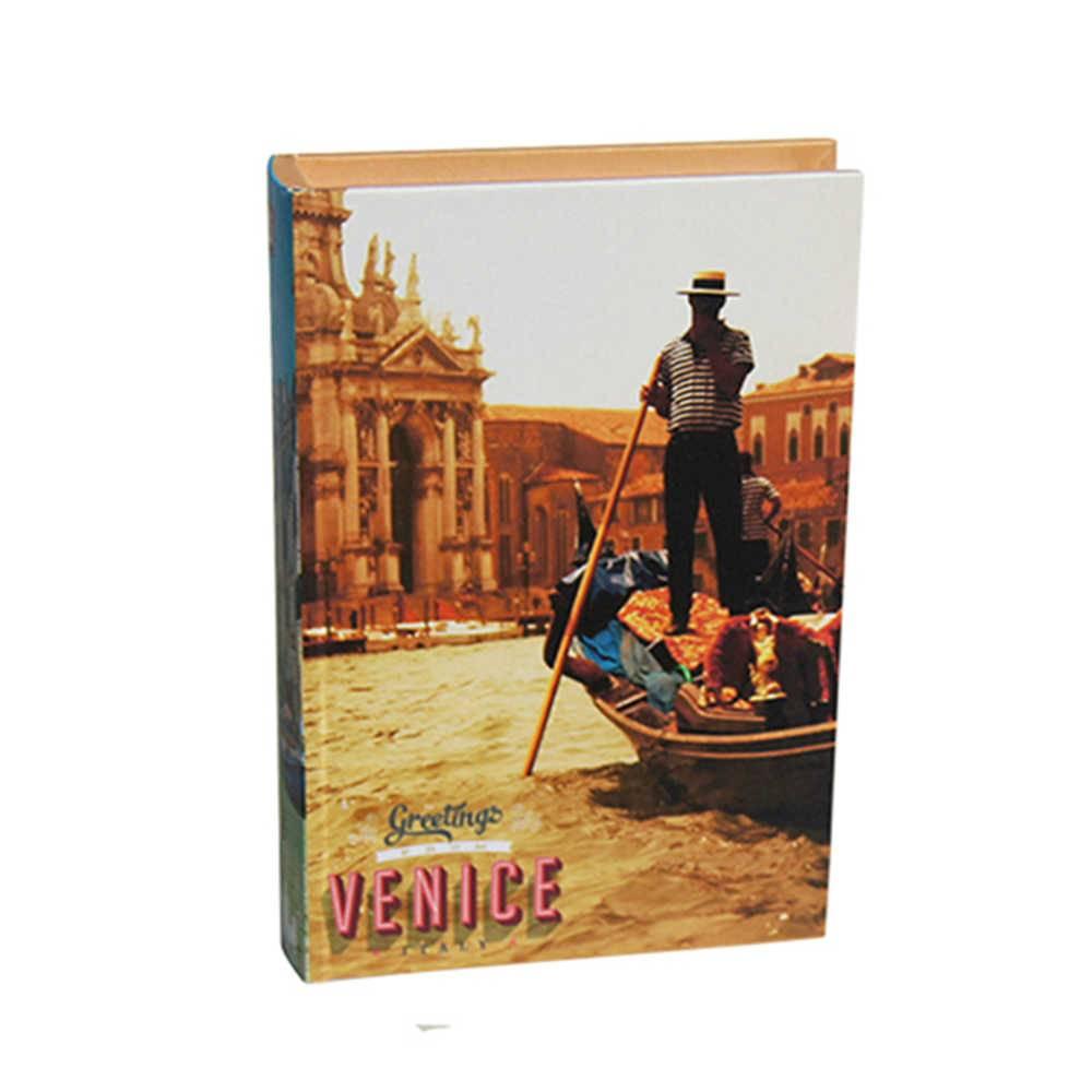 Book Box Venice Colorido em Madeira - Urban - 25x17 cm