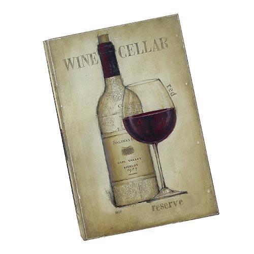 Caixa para Vinho - 2 Garrafas - Vine Cellar Bege Oldway em Madeira - 42x28 cm