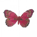 Borboleta Decorativa Rosa em Tecido - 10x10 cm
