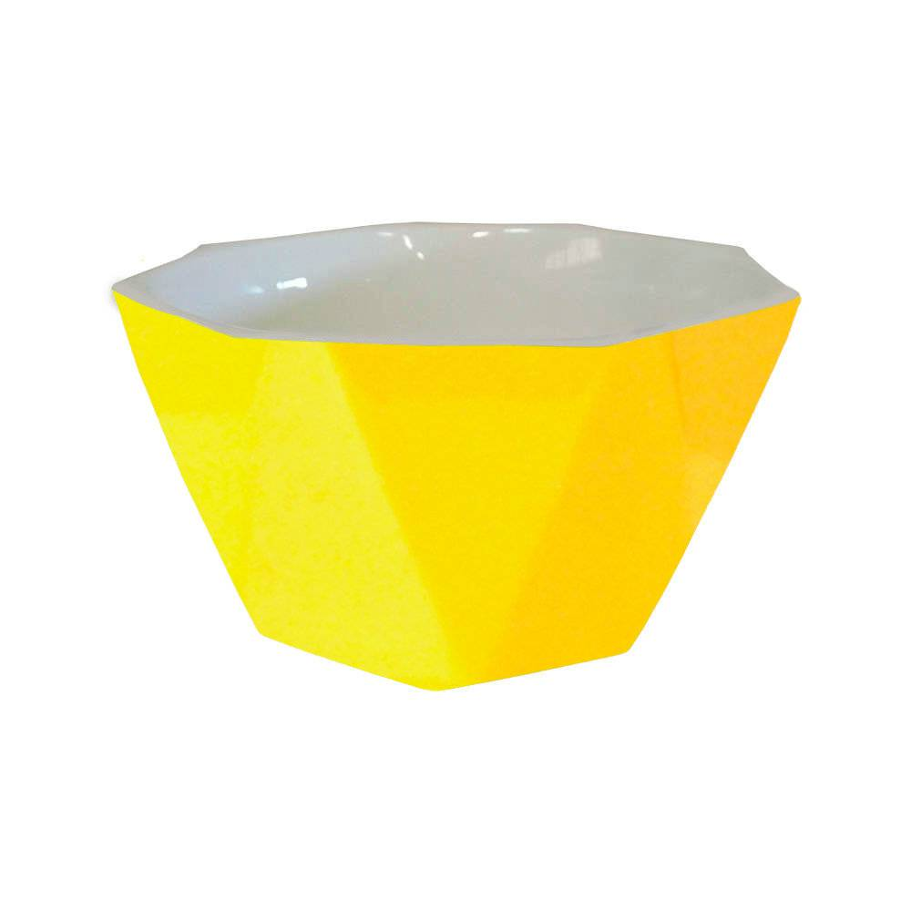 Bowl Diamond Amarelo em Porcelana - Lyor Design - 14x7 cm