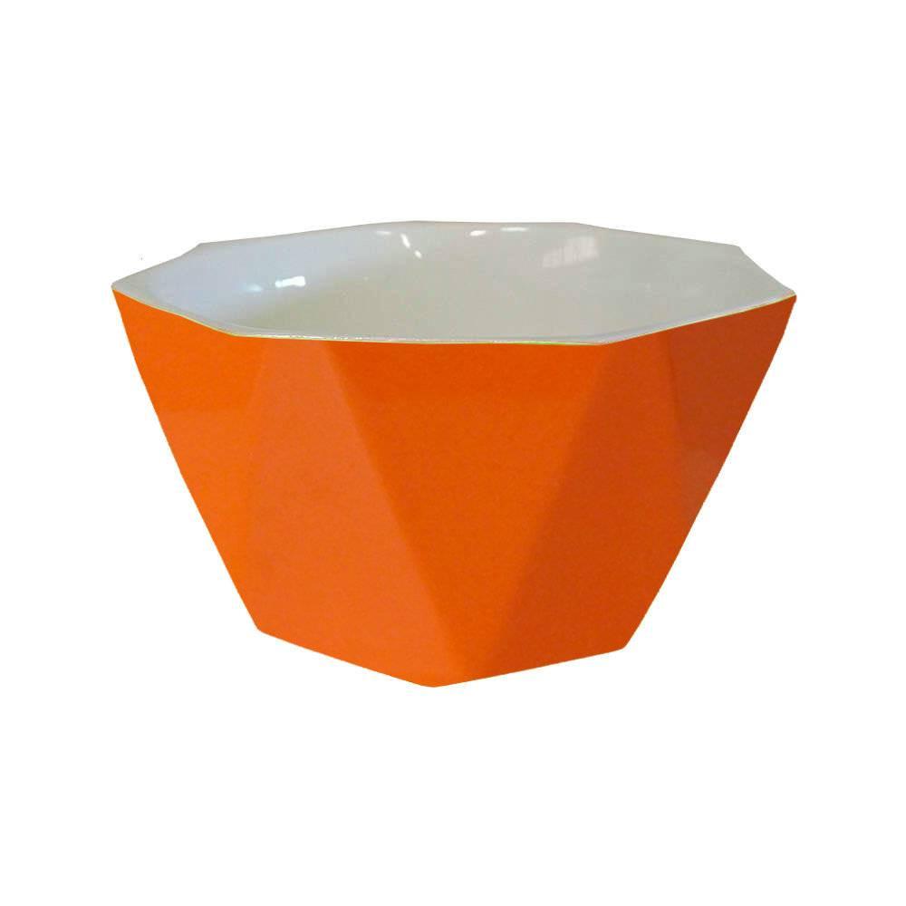 Bowl Diamond Laranja em Porcelana - Lyor Design - 14x7 cm
