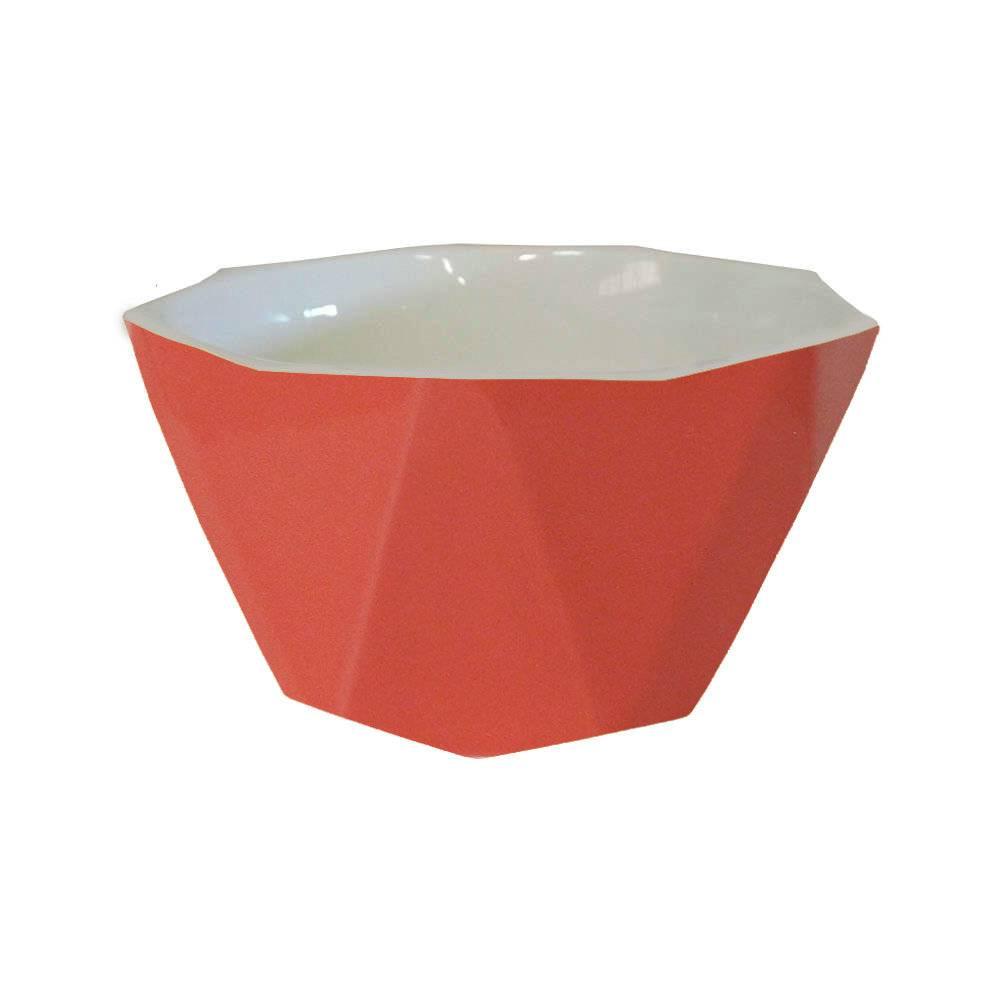 Bowl Diamond Rosa em Porcelana - Lyor Design - 14x7 cm