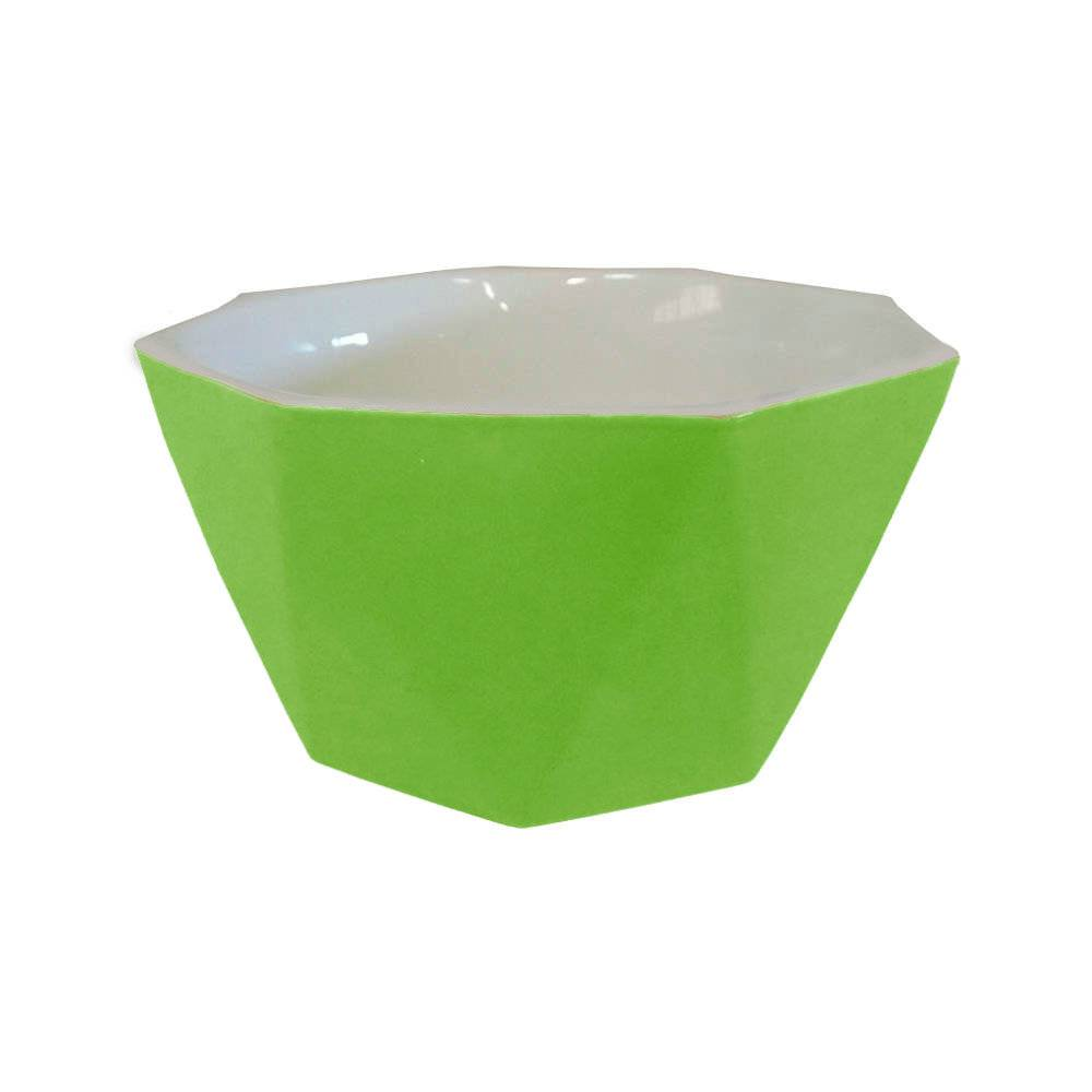 Bowl Diamond Verde em Porcelana - Lyor Design - 14x7 cm