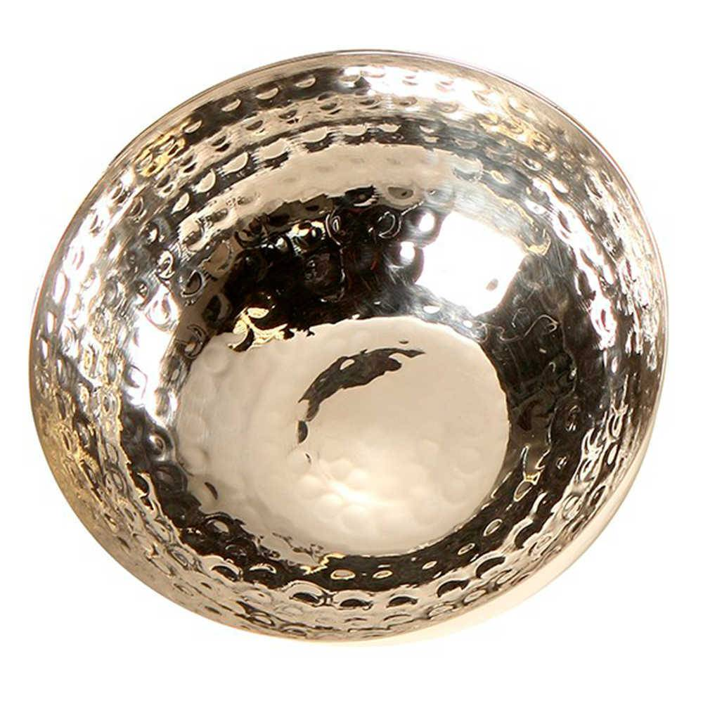 Bowl Jasen Arredondada em Metal com Banho de Prata - 11x11 cm