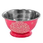 Bowl de Mesa Floral Pink em Metal - 12x12 cm
