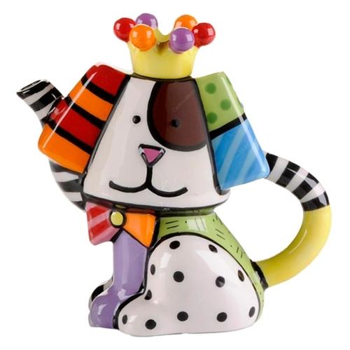 Bule Dog Pequeno - Romero Britto - em Cerâmica - 12x12 cm