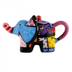 Bule Elephant - Romero Britto - em Cerâmica - 18x9 cm