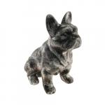 Bulldog sentado prata