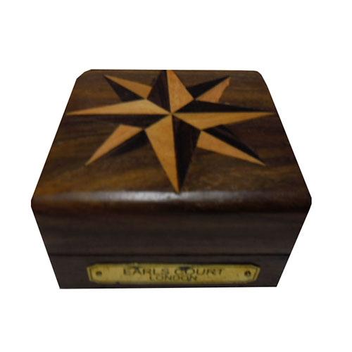 Bússola Earl Court London Pequeno em Metal - 7,5x7,5 cm