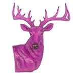 Cabeça de Alce em Resina para Decoração de Mesa Purple Fullway 73x60 cm