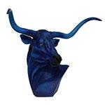 Cabeça de Touro Blue Design Fullway - 70x44 cm