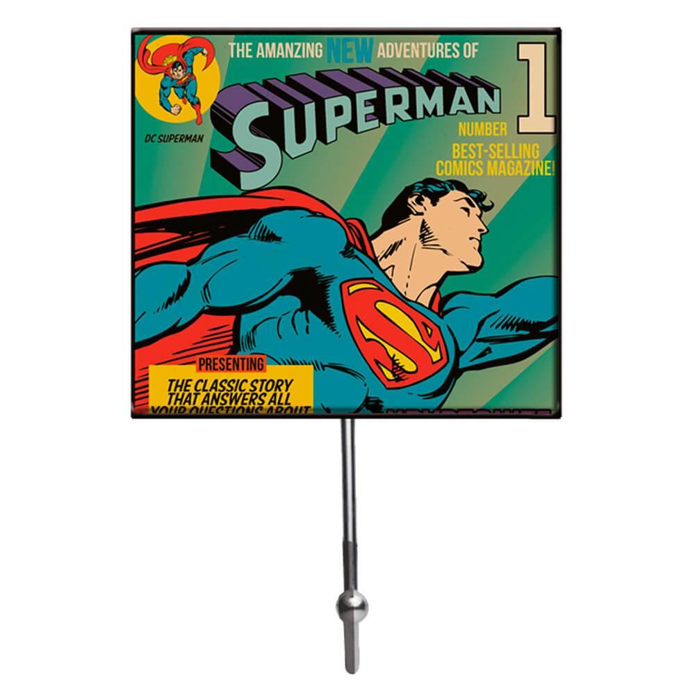 Cabideiro DC Comics Superman Flying Colorido em Vidro - Urban - 21x13 cm