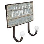 Cabideiro Duplo Family Oldway - Metal - 23x20 cm