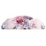 Cabideiro Flor Hortência Rosa em Madeira - 4 Ganchos - 40x15 cm