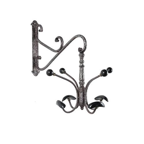 Cabideiro Giratório em Ferro e Porcelana Oldway - 8 Ganchos - 55x48cm