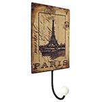 Cabideiro Metal Paris Eiffel 1 Gancho - Oldway - 25x13 cm