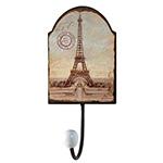 Cabideiro Metal Torre Eiffel 1 Gancho - Oldway - 22x10 cm
