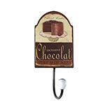 Cabideiro Metal Torta Chocolate 1 Gancho - Oldway - 22x10 cm