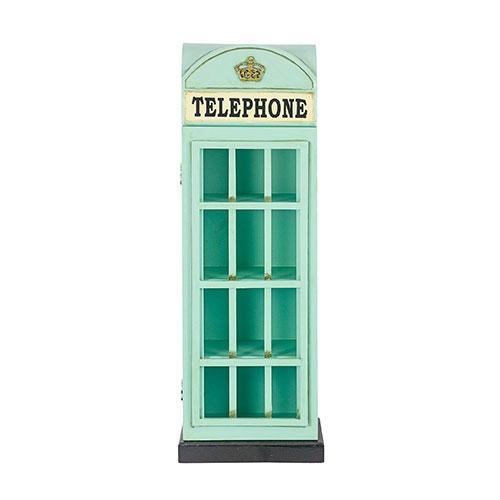 Cabine Telephone Azul Porta CDs Oldway - 80x28cm