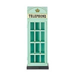 Cabine Telephone Azul Porta CDs Oldway