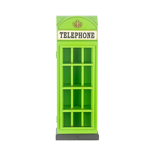 Cabine Telephone Verde Porta CDs Oldway - 83x31 cm