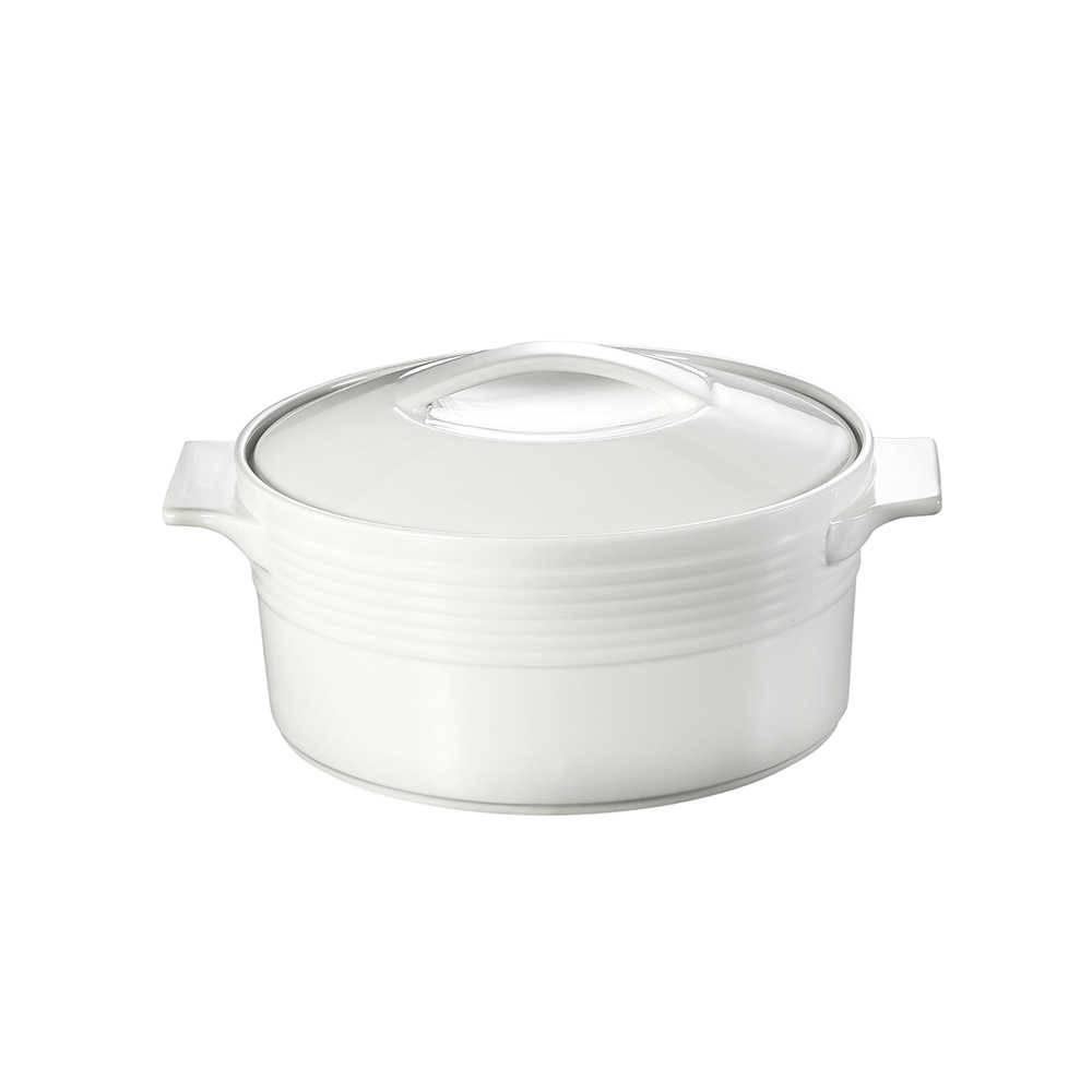 Caçarola Branca em Porcelana com Tampa - Dynasty - 22 cm