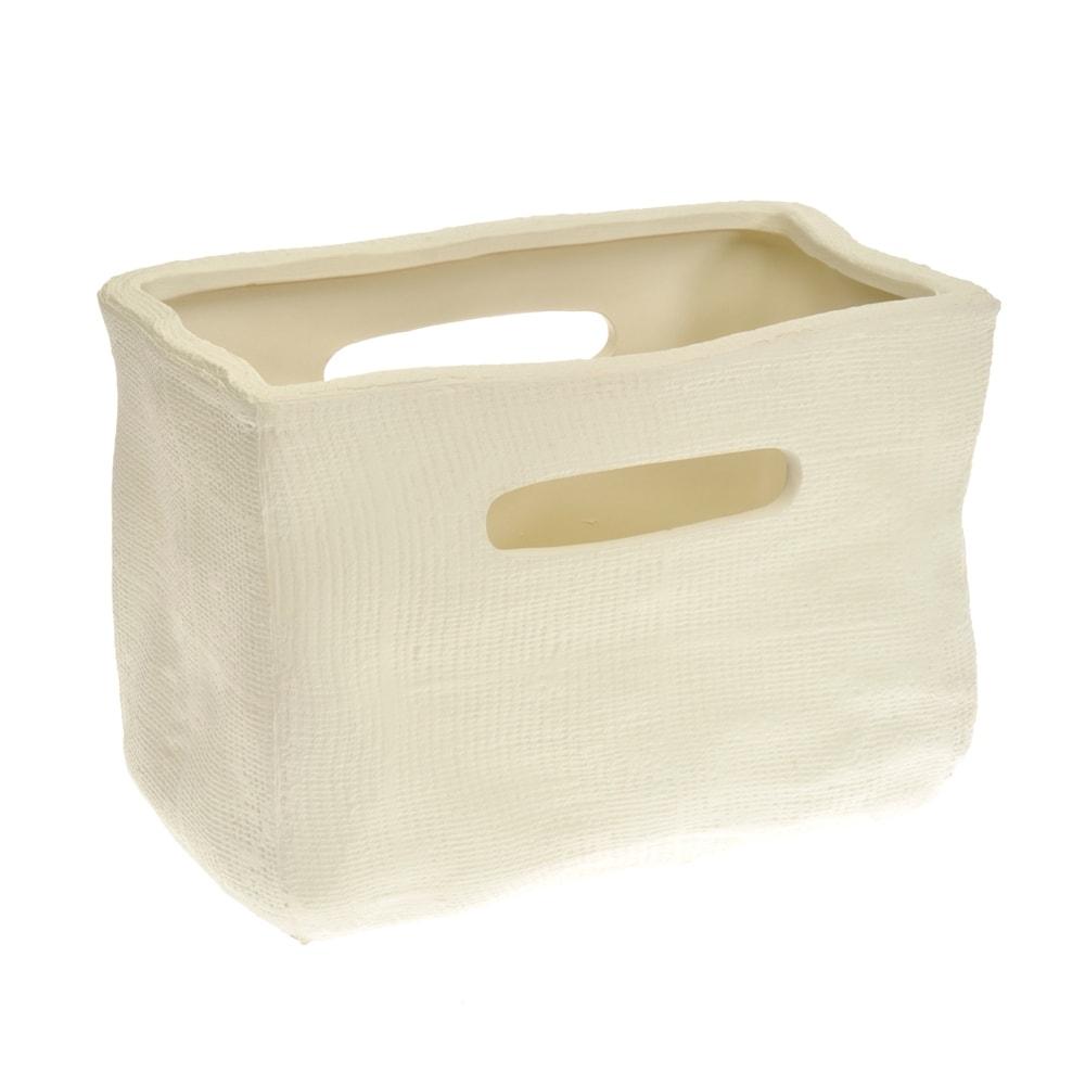 Cachepô Bag Creme em Cerâmica - 23x16 cm