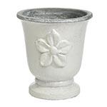 Cachepô Bell Branco Médio em Cerâmica