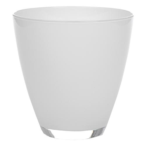 Cachepô Classen Branco em Vidro - 17x17 cm
