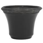 Cachepô Conical Preto em Cerâmica