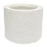 Cachepô Cylinder Branco Grande em Cerâmica - 18x14 cm