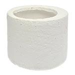 Cachepô Cylinder Branco Médio em Cerâmica