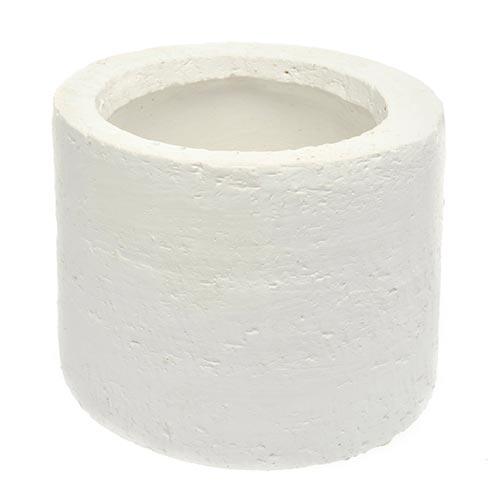 Cachepô Cylinder Branco Pequeno em Cerâmica - 13x11 cm