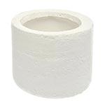 Cachepô Cylinder Branco Pequeno em Cerâmica