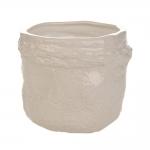 Cachepô Flow Médio Bege em Cerâmica - 20x17 cm